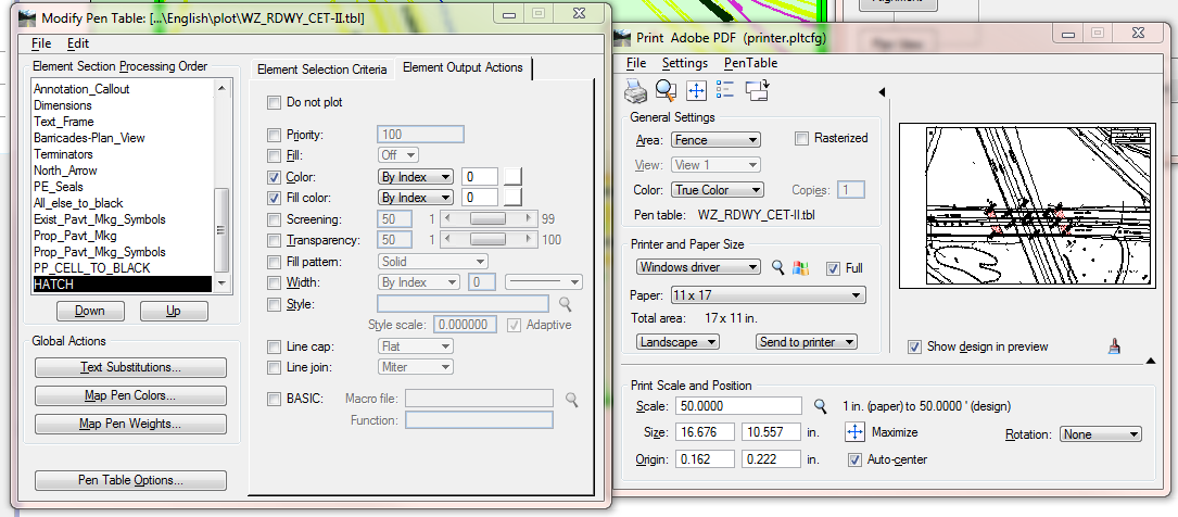 Drawing Lines In Microstation : Microstation plot table adjustment printing and plotting