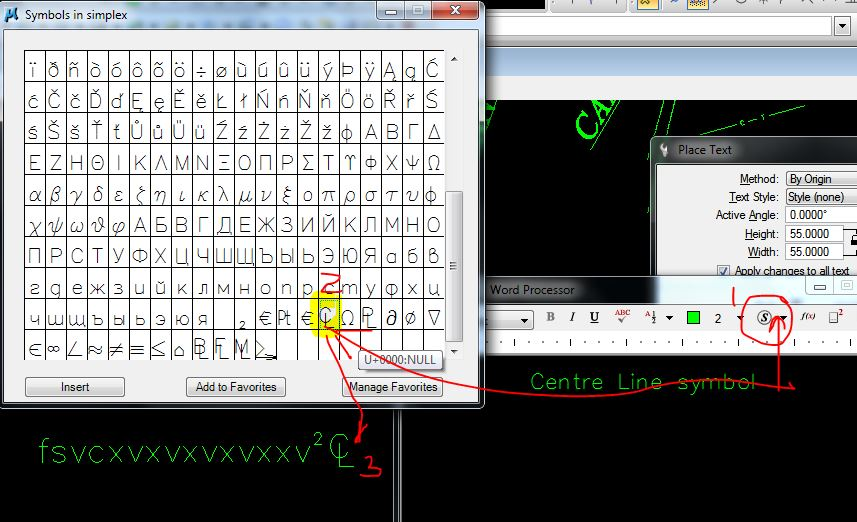 V8i Ss2 Unable To Place Centerline Symbol From Simplex Shx Microstation Forum Microstation
