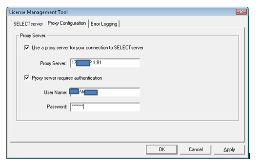 Connection Client Proxy settings - Cloud and Web Services