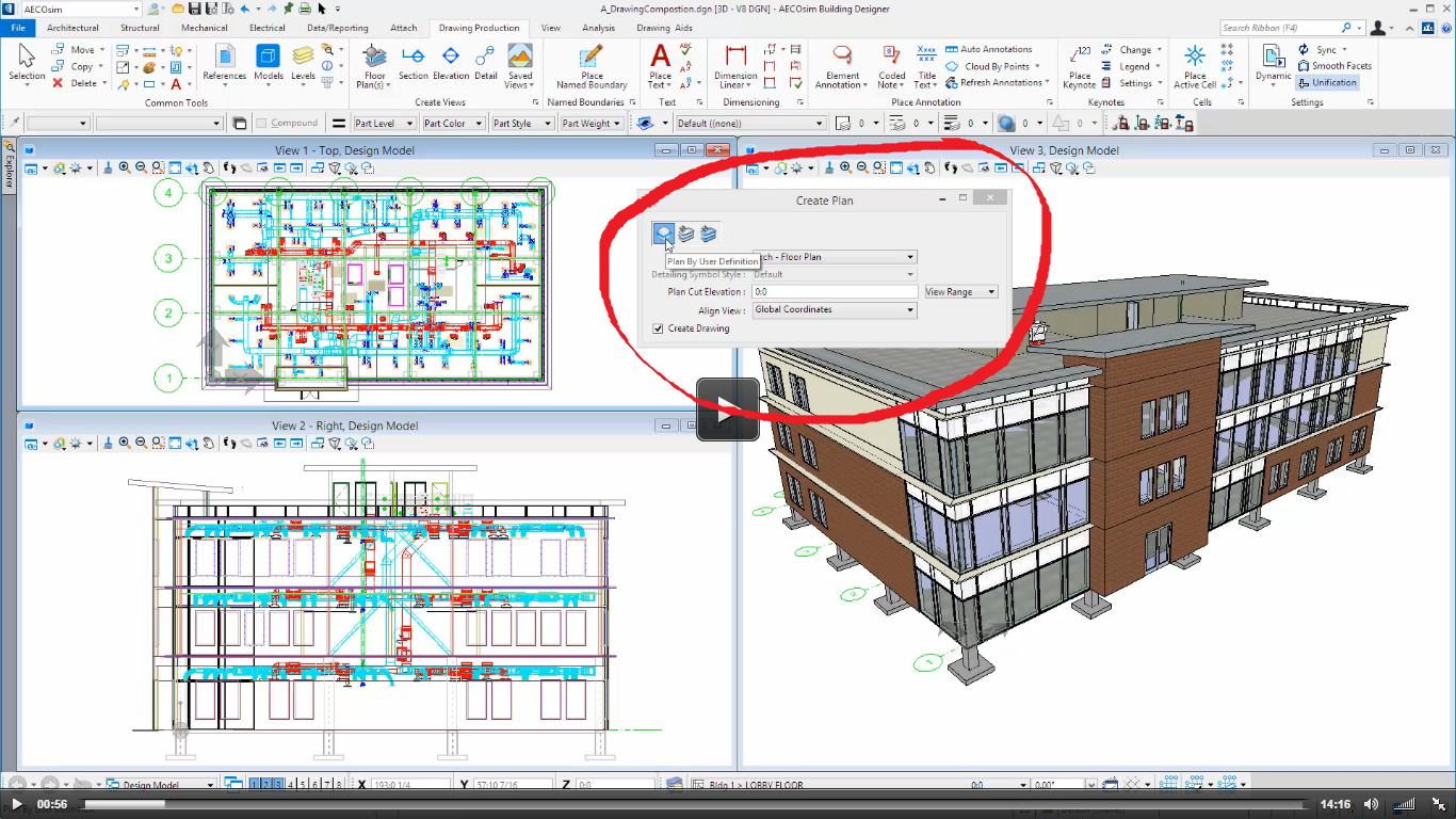 Regarding floor plan in drawing production aecosim speedikon regarding floor plan in drawing production ccuart Images