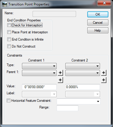 In The Transition Editor Horizontal Constraint Is Still Enabled But If I Try To Edit Point With Parametric Label Settings Of