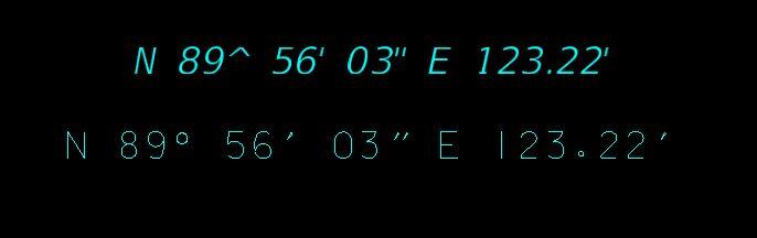 Geopak Labeler Degree Symbol In A Truetype Font Geopak Inroads