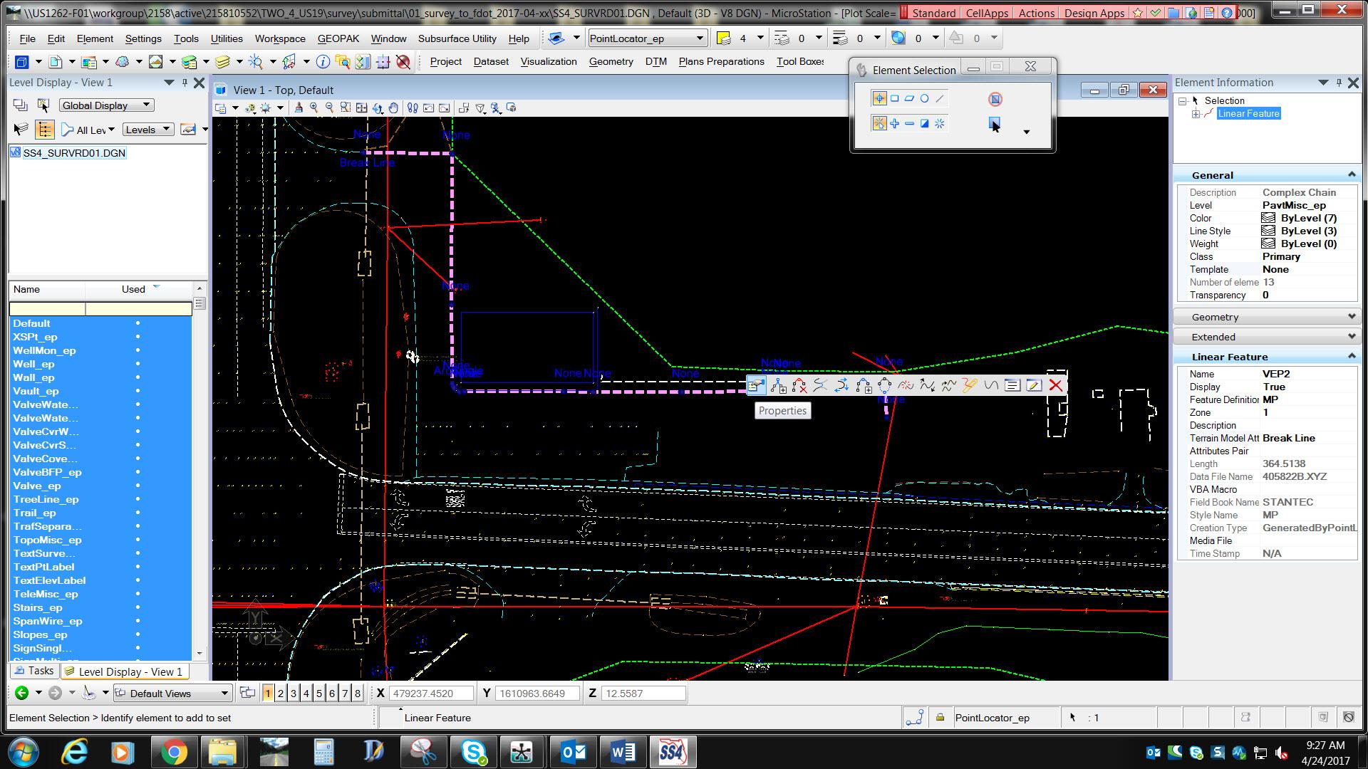 Survey Data Migration Ss3 To Ss4 Geopak Inroads Mx