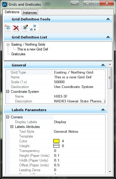 Draw grid lines and coordinates - Bentley Map | OpenCities