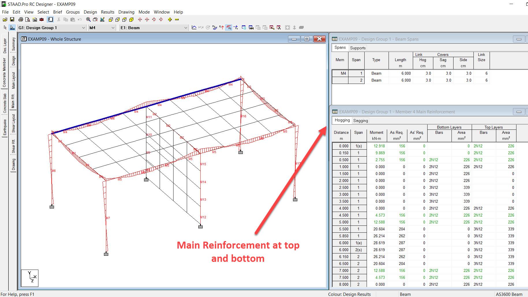 STAAD Pro Beam, Column, Slab detailing -- steel