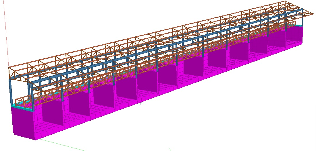Design of Continuous RCC Retaining walls Bins with Three Sides