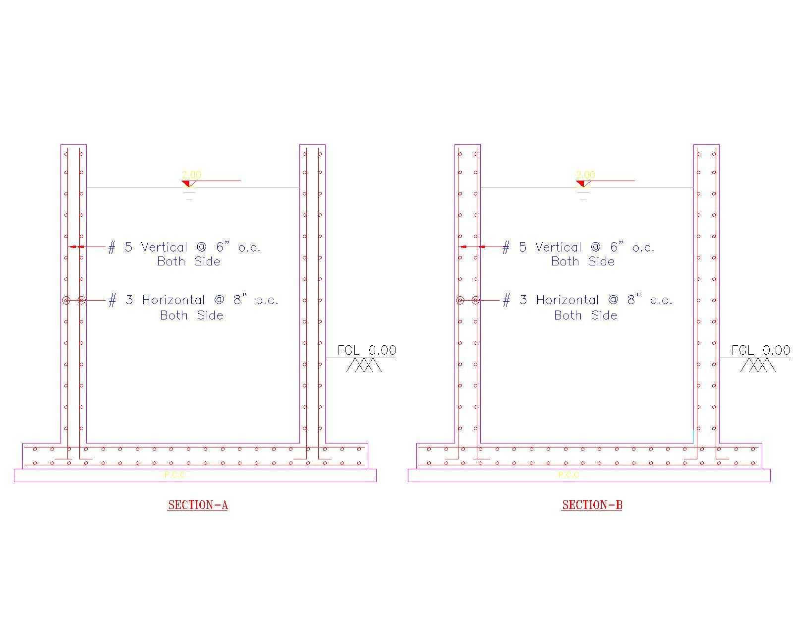 Rebar placement in RCC rectangular water Tank - RAM | STAAD