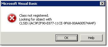 VBA Error - Class not registered - OpenBuildings | AECOsim