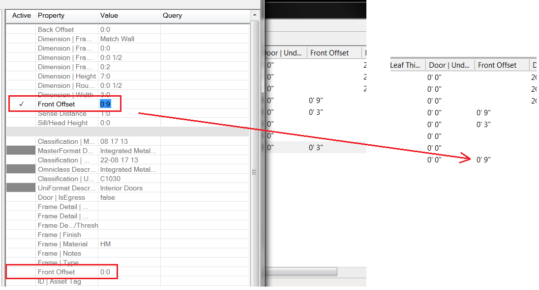 Including the FrontOffset property in DataGroup Explorer reports