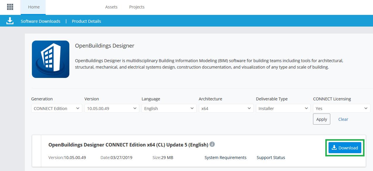 Installing OpenBuildings Designer - OpenBuildings | AECOsim