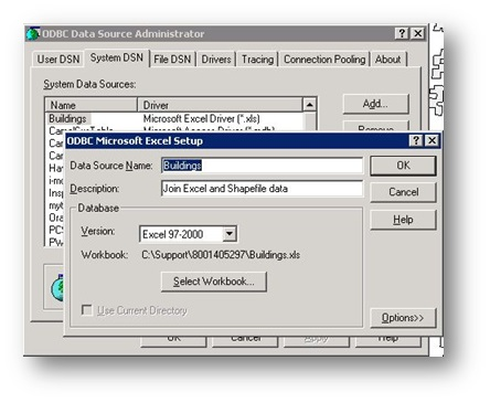 Create a join between Microsoft Excel and Esri Shapefile data