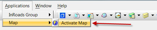 Activate Bentley Map V8i from Civil Engineering software products