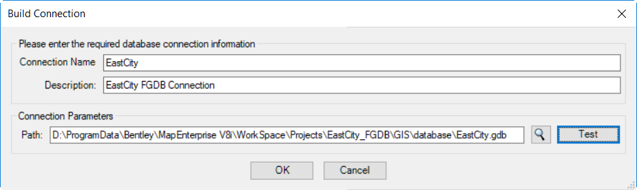 Esri File Geodatabase as a Graphical Source - Bentley Map