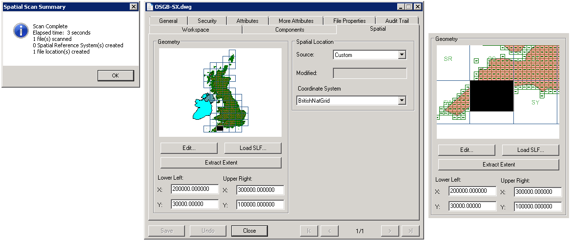 PWS5060 Spatial Location Scan of AutoCAD DWG - Geospatial Services