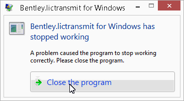 windows has stopped working