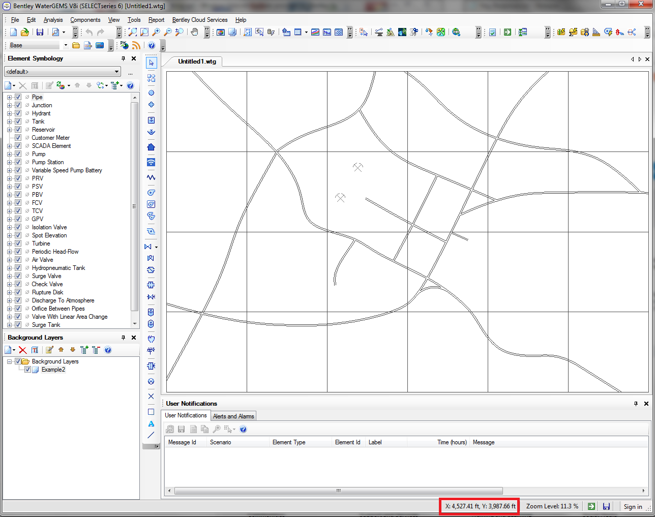 When importing a DXF or shapefile as a background, it does not show