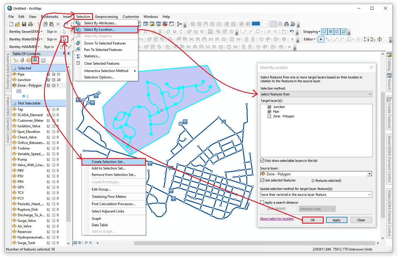 how to delete selection arcmap