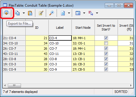 Export data to an Excel spreadsheet - OpenFlows | Hydraulics
