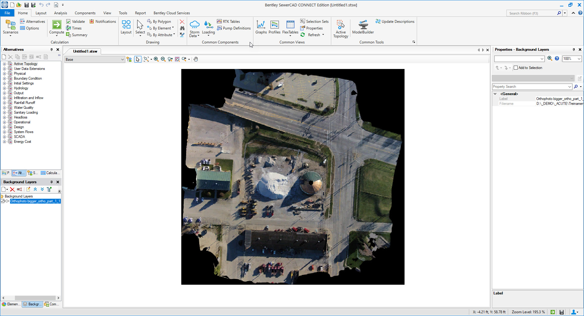 Consuming ContextCapture production files within your hydraulic