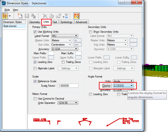 how to change units in microstation v8i