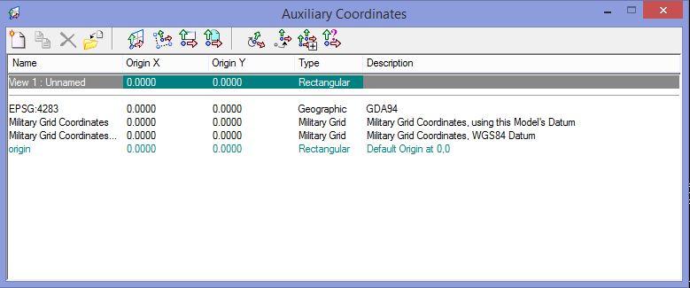 Geographic (longitude/latitude) coordinate readouts in