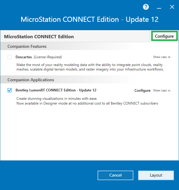 MicroStation CONNECT - How to create a Deployment Image