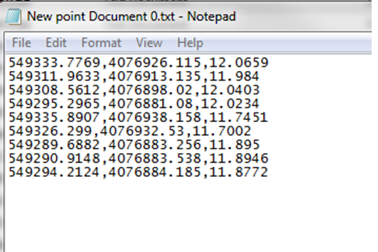 How to import coordinates x,y,z and their respective labels or text