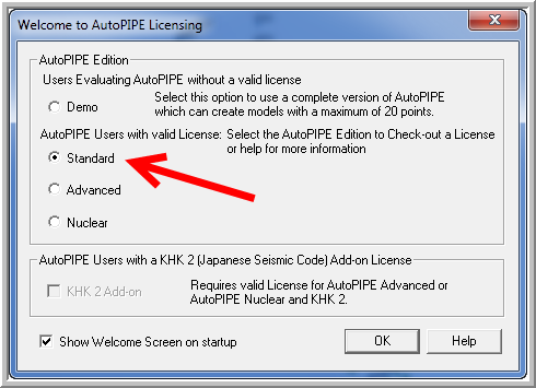 Interactive Guide To Licensing Autopipe Step 8 License