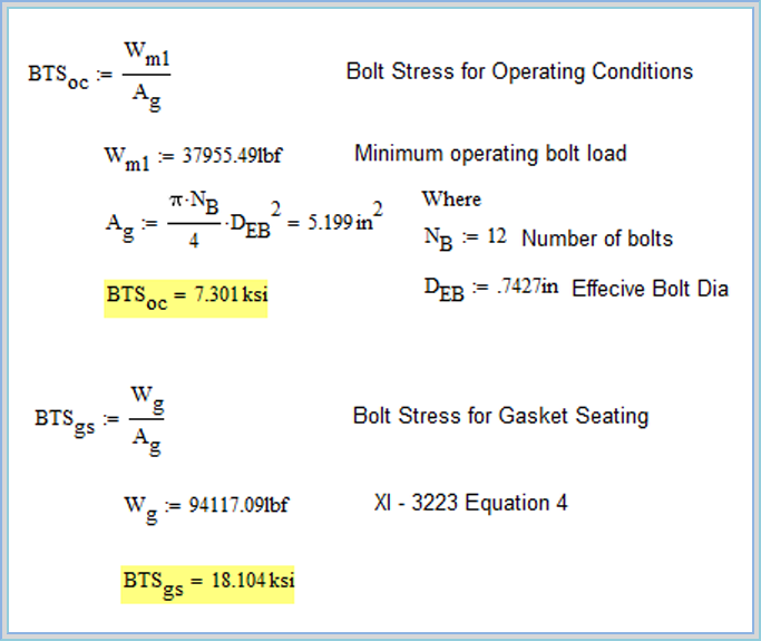 06  How to calculate Bolt Tensile Stress from Flange