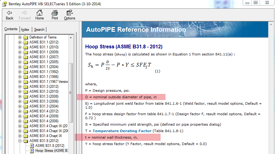 how to calculate hoop stress