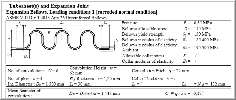 Capability to design thin bellow expansion joints as