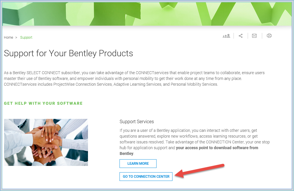 02  How to open Software Download with Bentley CONNECTION