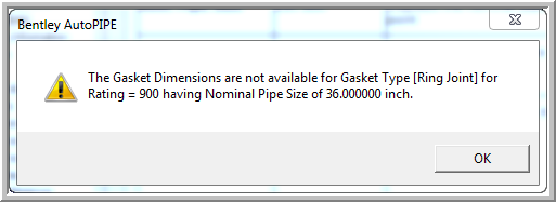 The Gasket Dimensions are not available for Gasket Type