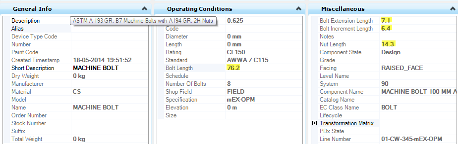 How are Bolt Lengths Calculated in OpenPlant Modeler