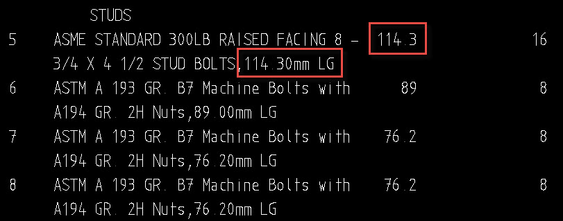 To Display Bolt Length as Metric in BOM Description - AutoPLANT