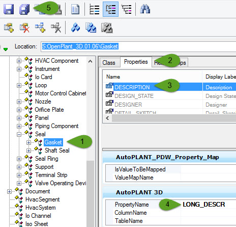 under the autoplant 3d custom attribute add long_desc in the property name field see image below - Autoplant 3d