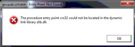 Entry Point Not Found - PowerGeopak Install Error in Windows