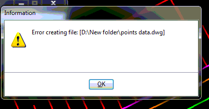 Video : Error creating file when export to AutoCAD - OpenRoads