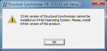 Can't Install the 32-bit Version on a 64-bit Operating System - RAM