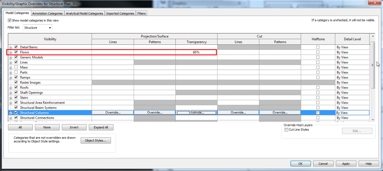 Exporting Reinforcing from RAM Concept to Revit - RAM   STAAD Wiki