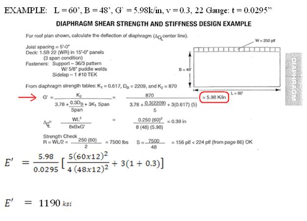 Example Calculating Semirigid Diaphragm E Ram Staad
