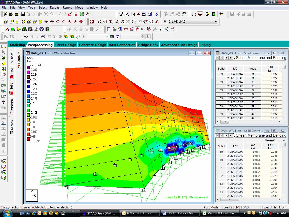 STAADPro Wall Analysis For Dams TN RAM STAAD Wiki RAM