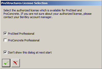 Checking ProStructures/ProSteel License settings (AutoCAD