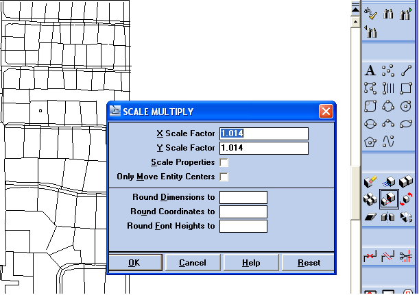 Matching Scale and Origin in Imported Site Maps - gINT