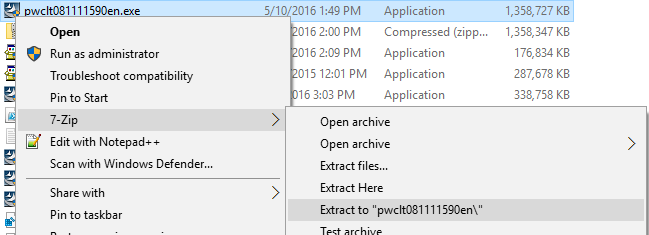 Not enough space on drive C:\ to extract this package