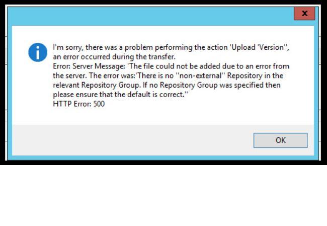 File Upload Failed : Error
