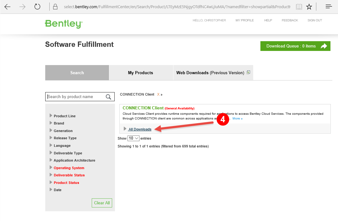 Downloading The Connection Client Siteops Wiki Siteops Bentley