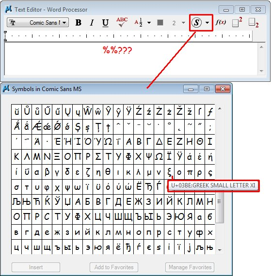 Alternate Key In Codes For Symbols In Tt Fonts Microstation Forum