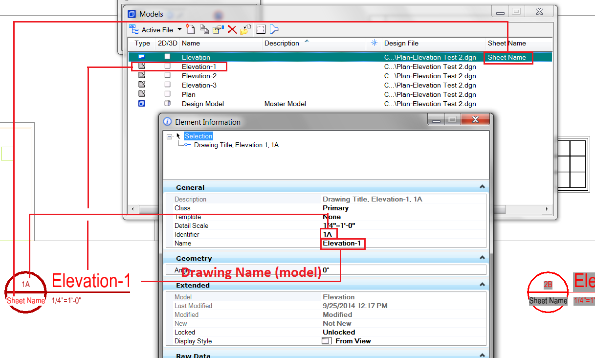 elevation callout Drawing Identifier links do not update