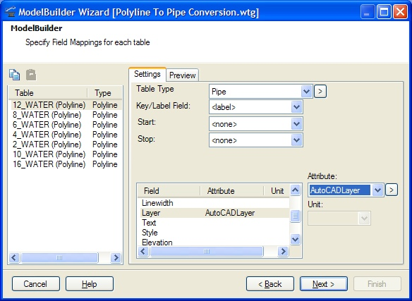 Importing an AutoCAD or MicroStation CAD file using ModelBuilder